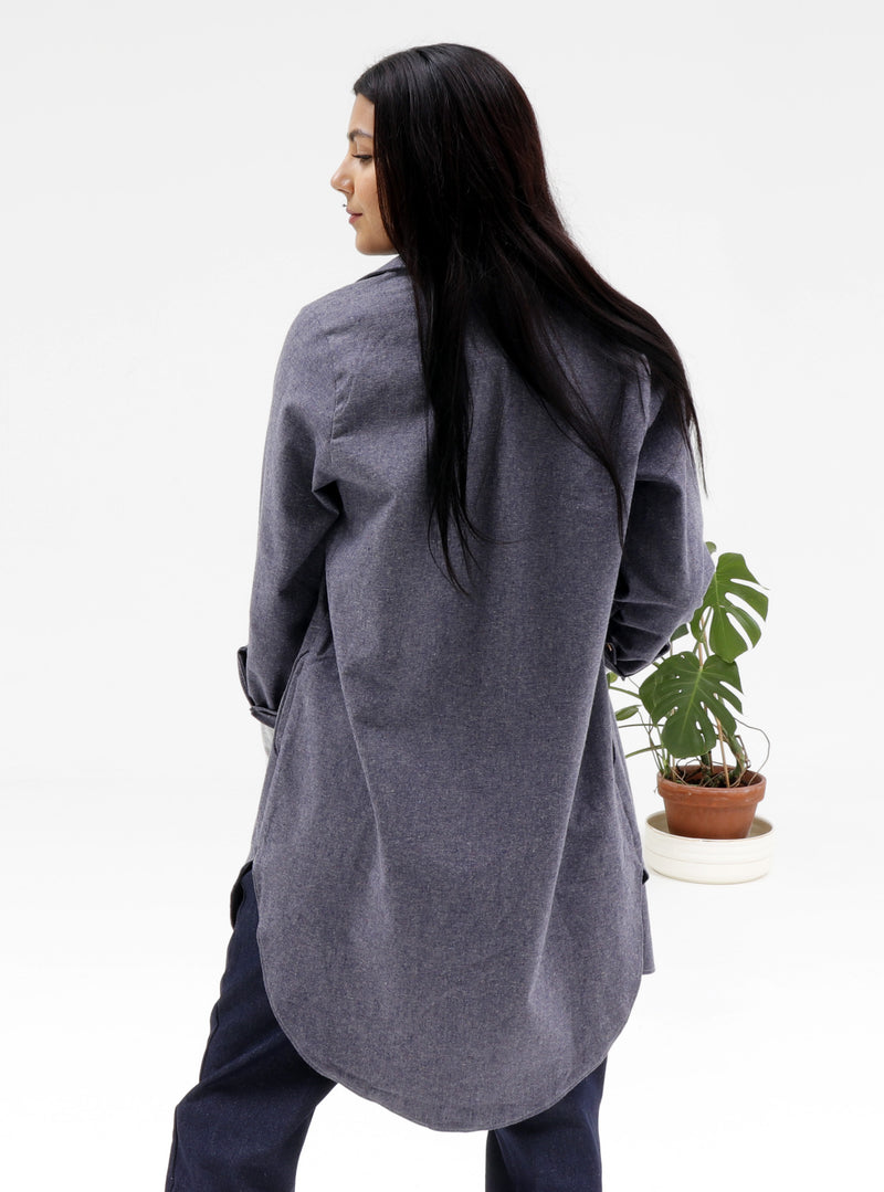 Recycled Hemp Oversized Shirt - GOING GOING...