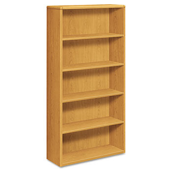 10700 Series Wood Bookcase, Five Shelf, 36w x 13 1/8d x 71h