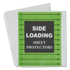 "Side Loading Polypropylene Sheet Protector, Clear, 2"", 11 x 8 1/2, 50/BX"