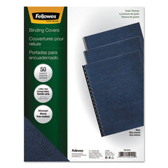 Classic Grain Texture Binding System Covers, 11 x 8-1/2, Navy, 50/Pack