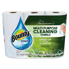 Paper Towels with Dawn, 2-Ply, 11 x 9, 49/Roll, 3/Pack