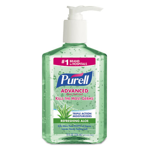 Advanced Instant Hand Sanitizer Gel, Fresh Scent, 8 oz Bottle