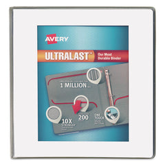 "UltraLast View Binder w/1-Touch Slant Rings, 11 x 8 1/2, 1"" Cap, White"
