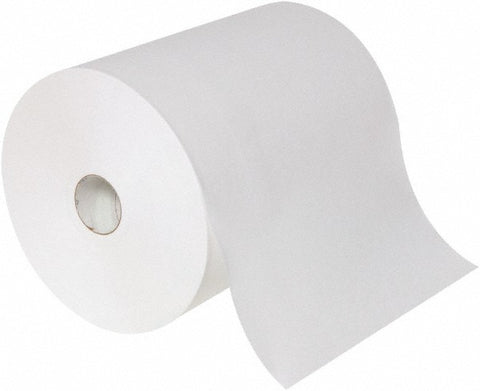 Hardwound paper towels, 1-ply, 8'' x  800 ft, 6/Ct