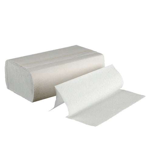 White Multifold paper towel, 1-ply, 16 packs/ct, 250/pk