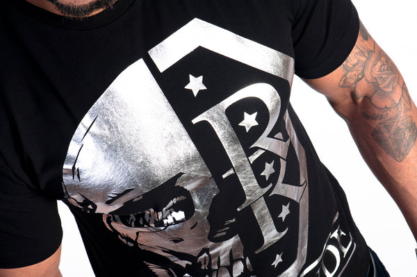 Muscle Fit Skull Print T-Shirt By Яich N Rude™