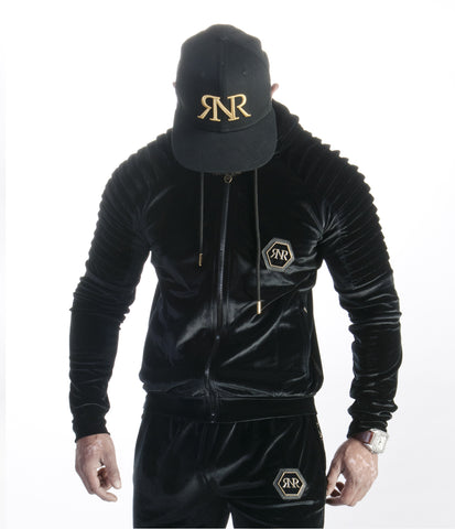 Fitted Velour Hooded Top By Яich N Rude™