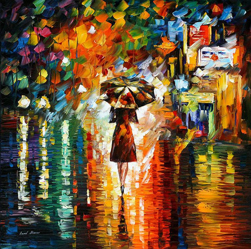 RAIN PRINCESS ART PRINT ON CANVAS BY LEONID AFREMOV - London Art and Souvenirs