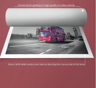 CANVAS PRINT OF FAMOUS LONDON RED BUS ON WESTMINISTER BRIDGE - London Art and Souvenirs
