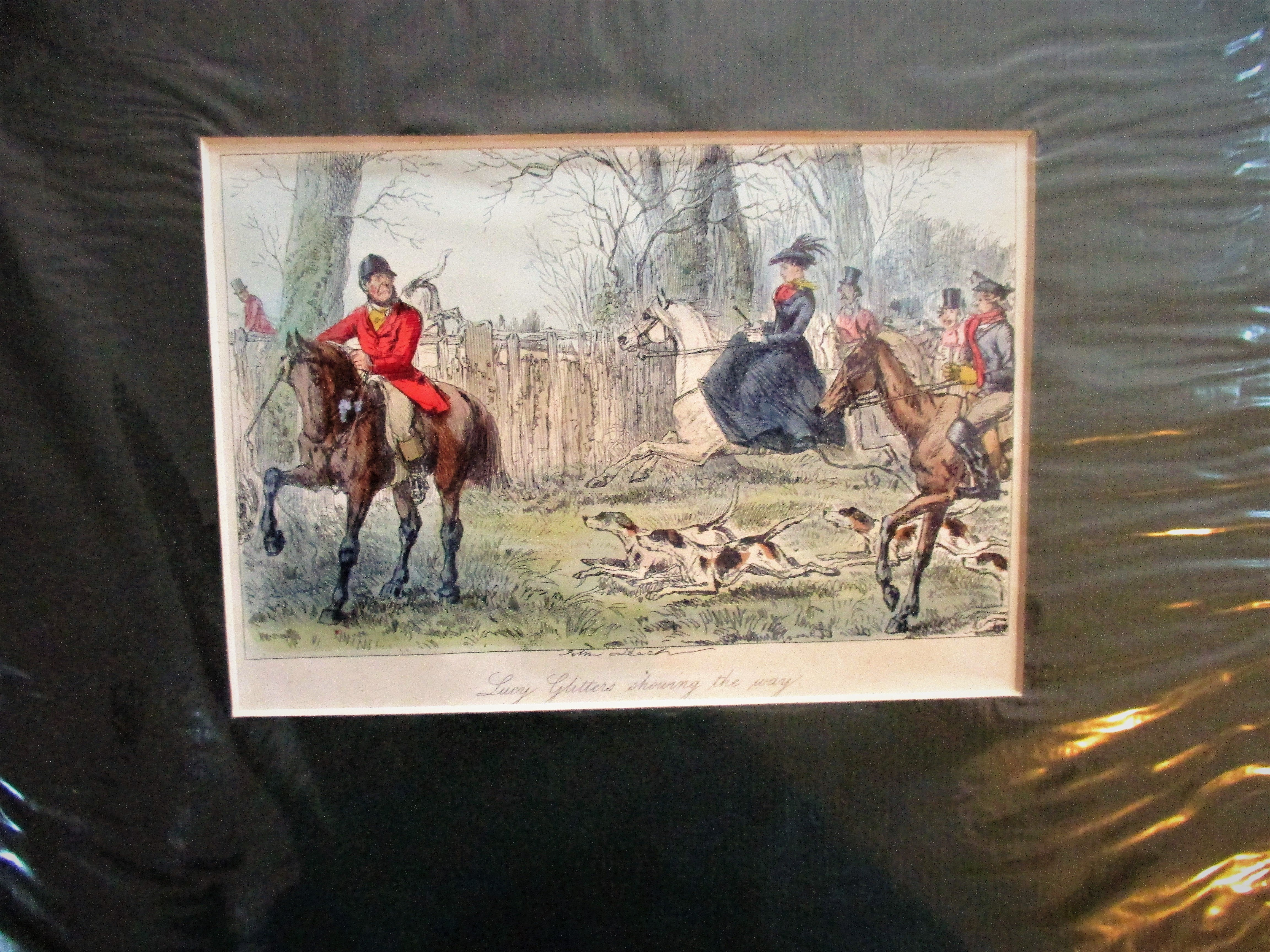 10 SET  ANTIQUE BRITISH HUNTING PRINTS
