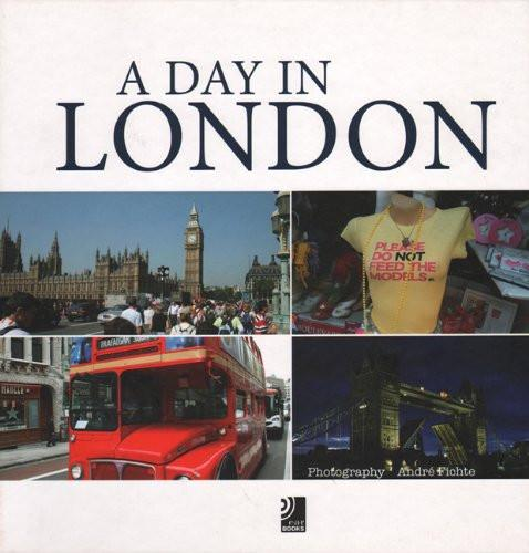 BOOK HARDCOVER -A DAY IN LONDON BOOK WITH 4 AUDIO CD'S - London Art and Souvenirs