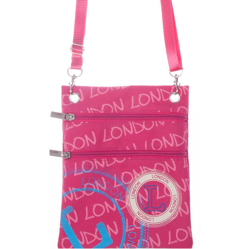 PINK  LONDON NECK POUCH ORIGINAL BY ROBIN RUTH