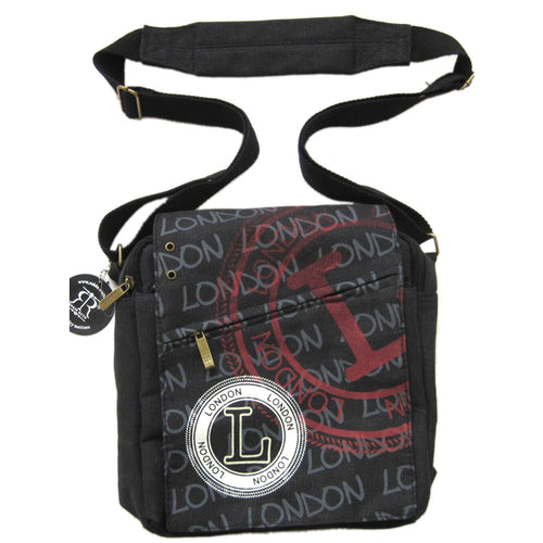Original Robin Ruth Brand London Messenger Bag -small Black-Fuchia