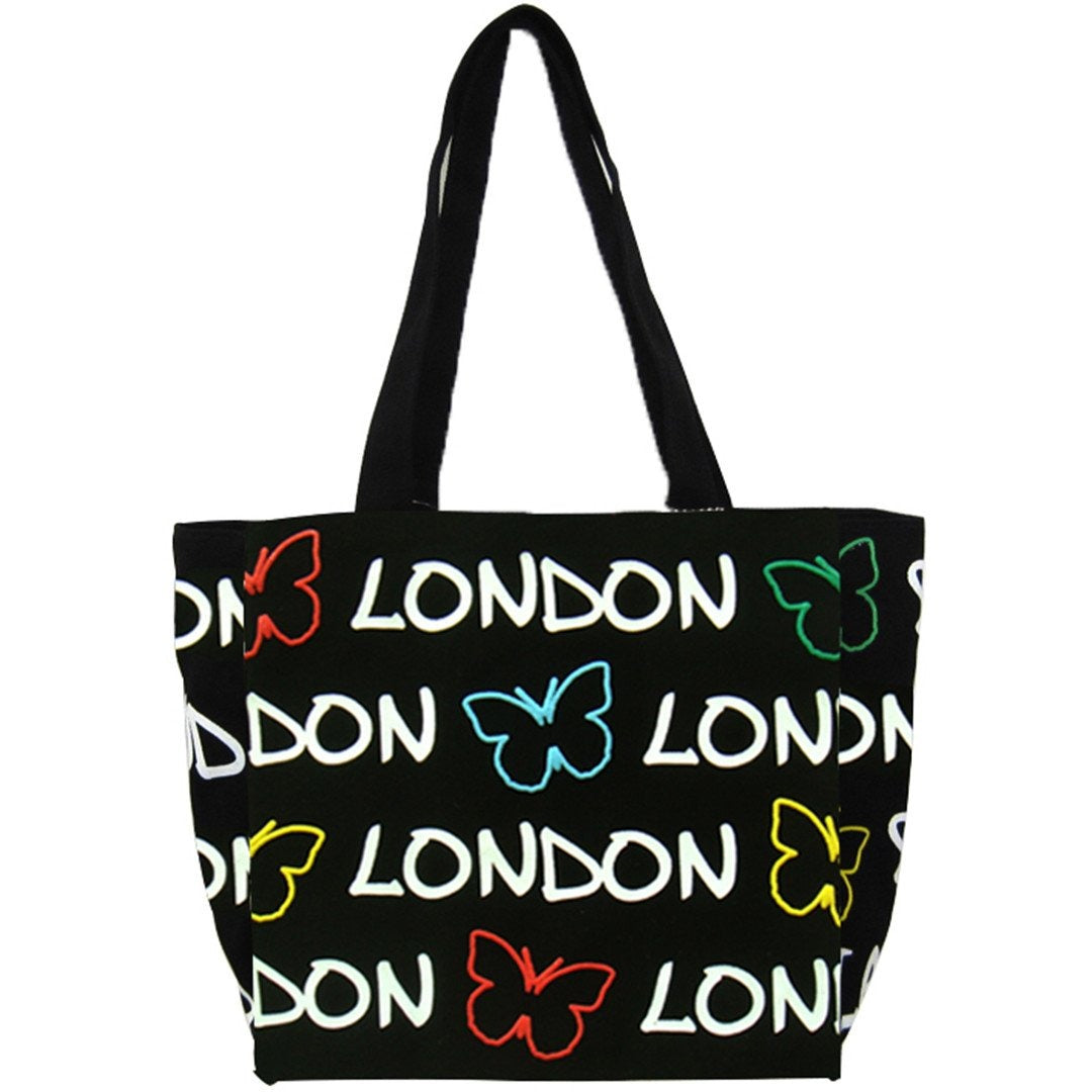 feda95aa9e2e Beautiful Original Robin Ruth brand Large Butterfly London Tote Bag Black  White multicolured