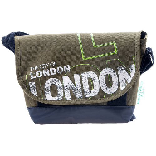 Cool City of London Messenger Bag Dark Green White