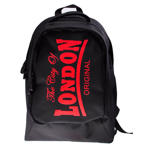 Backpack City of London Original Robin Ruth Brand  Medium Black Red - London Art and Souvenirs