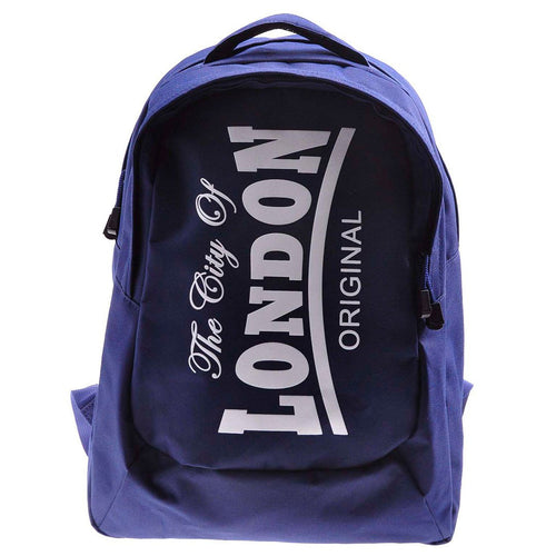 Backpack City of London Robin Ruth brand original   Medium Navy Blue White