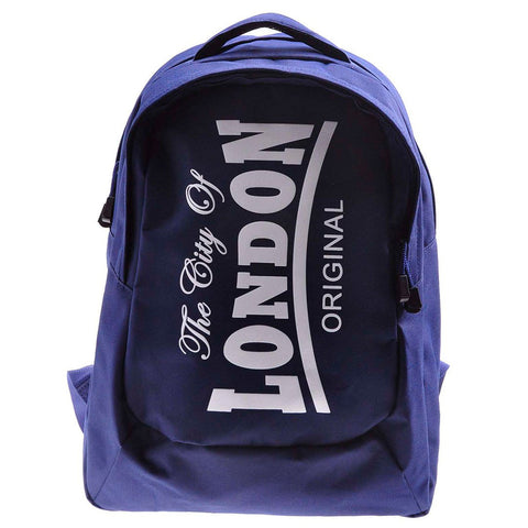 Backpack City of London Original Robin Ruth Brand  Medium Black Red