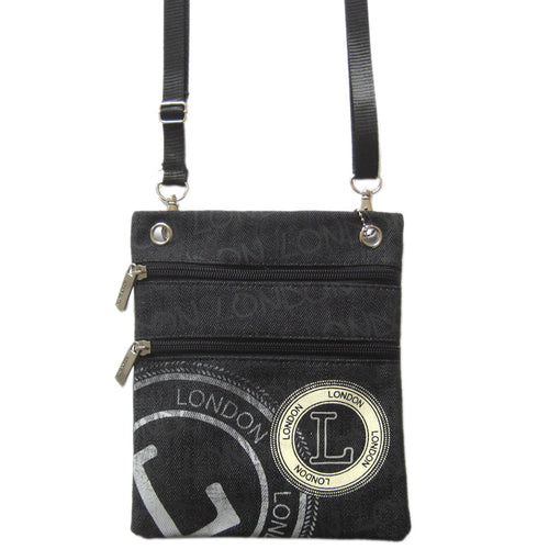 Original Robin Ruth Brand London Neck Pouch  Black  Grey