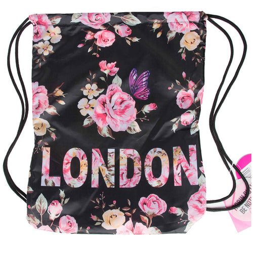 Robin Ruth Sport's Bag Flower London Black Rose