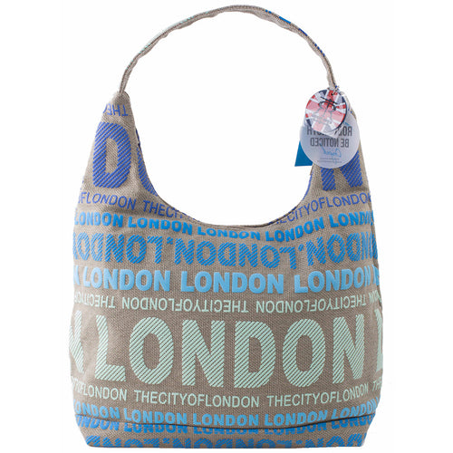 STYLISH LONDON SLING BAG BEIGE-BLUE