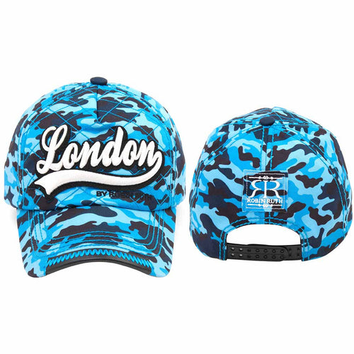 Original Robin Ruth Brand London Camouflage Baseball Cap Royal Blue