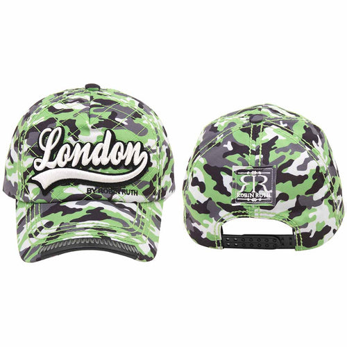 ORIGINAL ROBIN RUTH BRAND LONDON SIGNATURE CAMOUFLAGE  BASEBALL CAP
