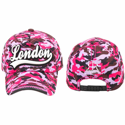 ORIGINAL ROBIN RUTH BRAND LONDON CAMOUFLAGE  DESIGN BASEBALL CAP