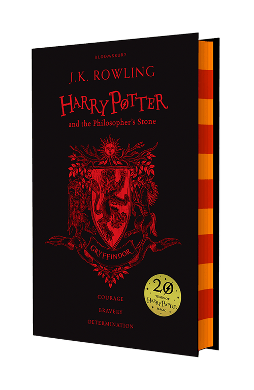 BOOK HARDCOVER  Harry Potter and the Philosopher's Stone –20th Anniversary Gryffindor Edition - London Art and Souvenirs