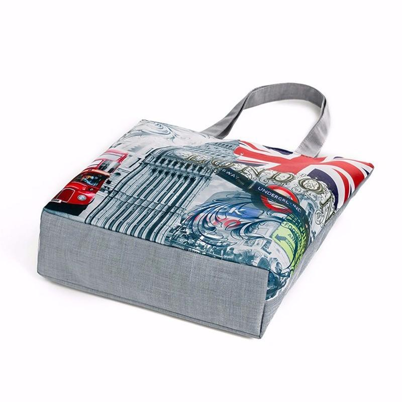 London  Canvas Tote Casual Beach Bags - London Art and Souvenirs
