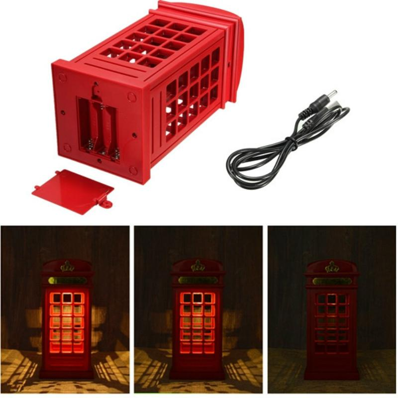 London Phone Booth Design LED Touch Night Light USB Rechargeable with  Touch Sensor