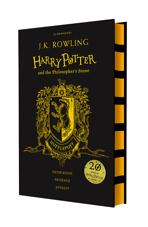 BOOK HARDCOVER-  Harry Potter and the Philosopher's Stone – Hufflepuff Edition - London Art and Souvenirs