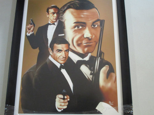 JAMES BOND-SEAN CONNERY LIMITED EDITION PRINT FRAMED