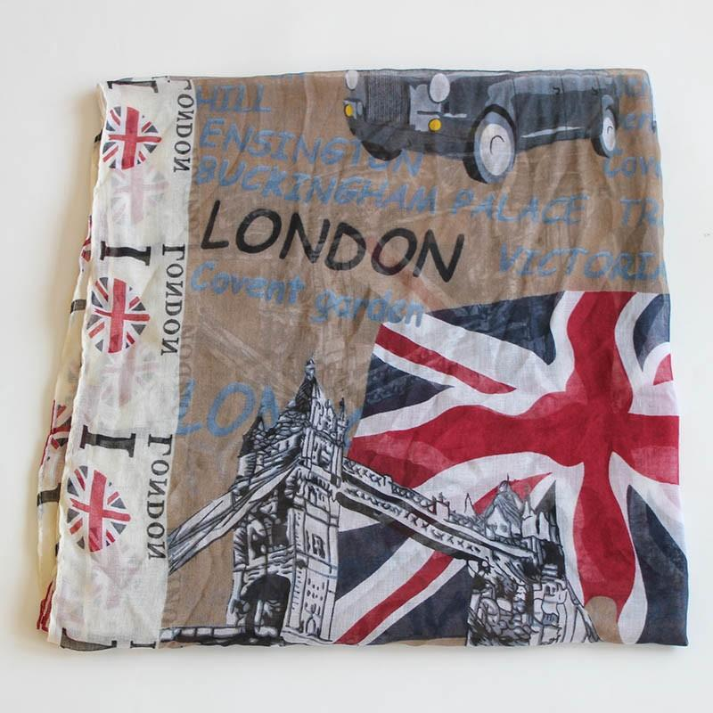 BEAUTIFUL LONDON DESIGN INFINITY SCARF OR WRAP - London Art and Souvenirs