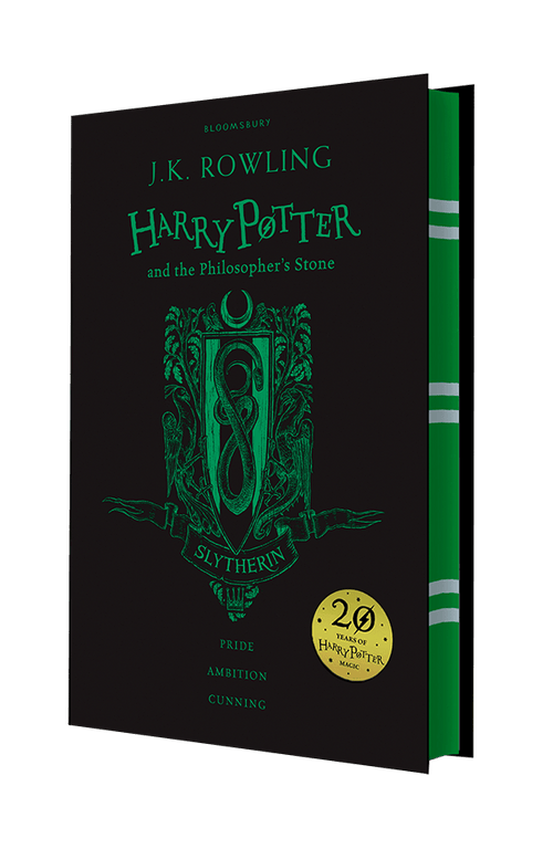 BOOK HARDCOVER-Harry Potter and the Philosopher's Stone – Slytherin Edition - London Art and Souvenirs