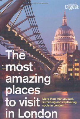 BOOK HARDCOVER-THE MOST AMAZING PLACES TO VISIT IN LONDON