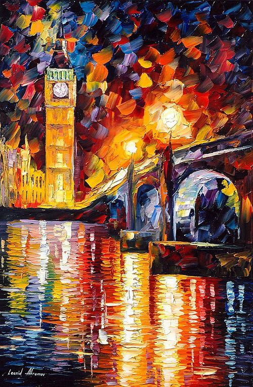 LONDON — PALETTE KNIFE Oil Painting On Canvas By Leonid Afremov - London Art and Souvenirs