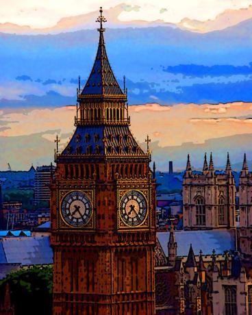 BIG BEN, London oil painting Thick Canvas, oil or Acrylic colors unsigned