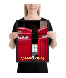LONDON CALLING EXCLUSIVE  PHOTO PRINT FRAMED - London Art and Souvenirs