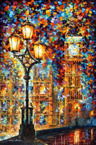 RAIN PRINCESS ART PRINT ON CANVAS BY LEONID AFREMOV
