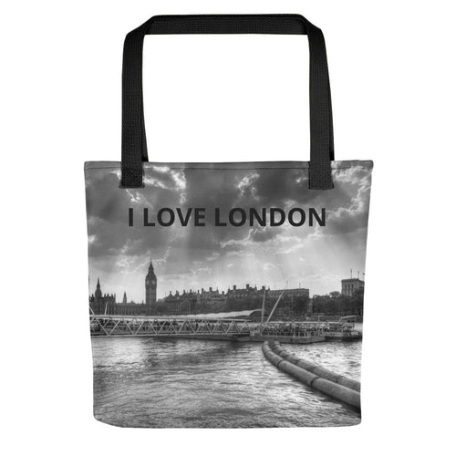 I LOVE LONDON PICTURE TOTE BAG - London Art and Souvenirs