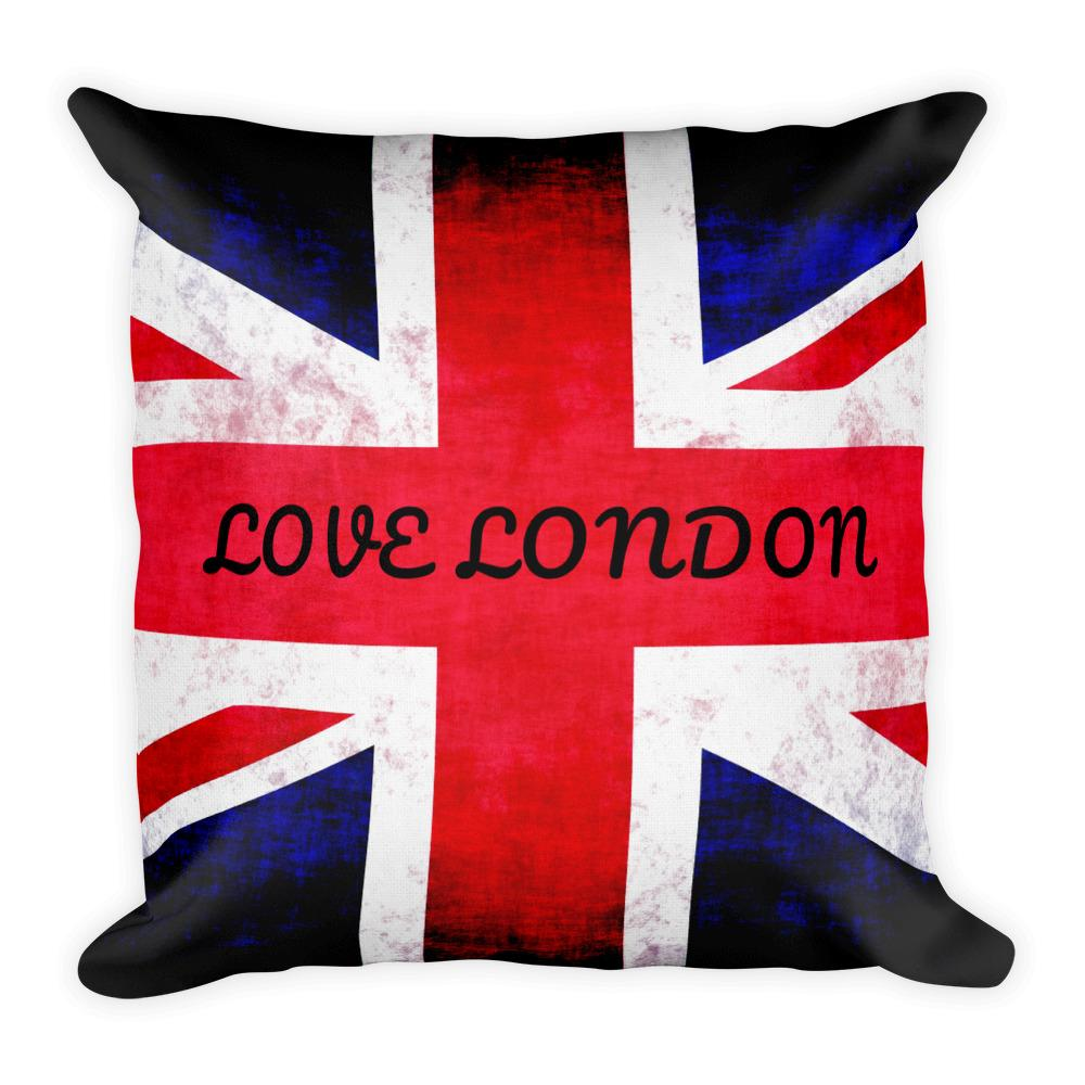 LOVE LONDON UNION JACK PREMIUM PILLOW - London Art and Souvenirs