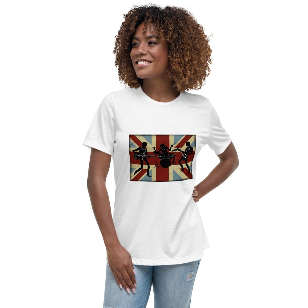 COOL BRITISH FLAG Women's Relaxed T-Shirt - London Art and Souvenirs