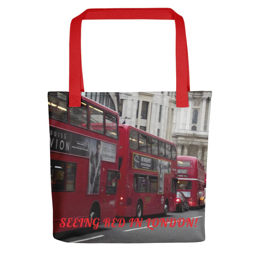 London Buses Tote Bag - London Art and Souvenirs