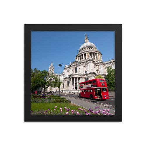 CLASSIC RED BUS IN LONDON PHOTO PRINT FRAMED