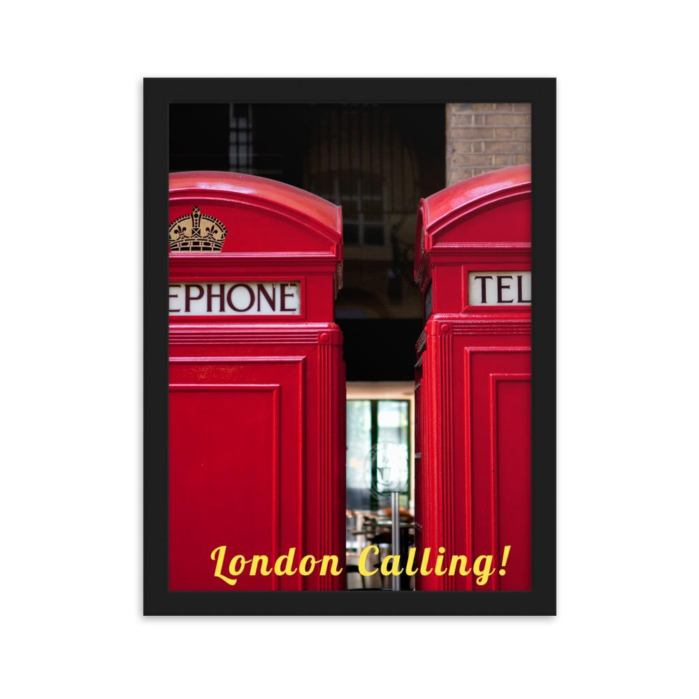 LONDON CALLING PHOTO PRINT FRAMED