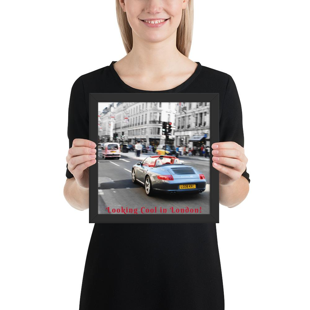Looking Cool in London Photo Print FRAMED - London Art and Souvenirs