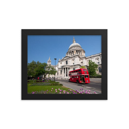 CLASSIC RED BUS IN LONDON PHOTO PRINT FRAMED - London Art and Souvenirs