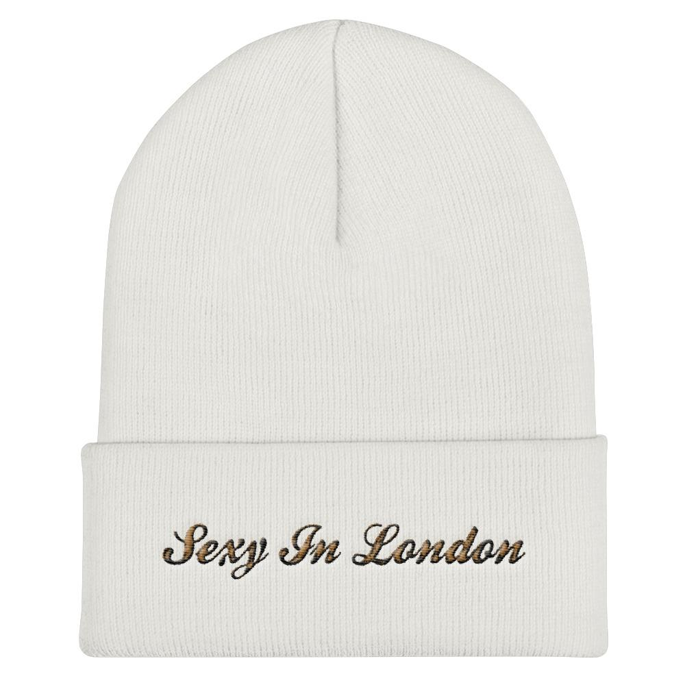 SEXY IN LONDON CUFFED BEANIE HAT - London Art and Souvenirs