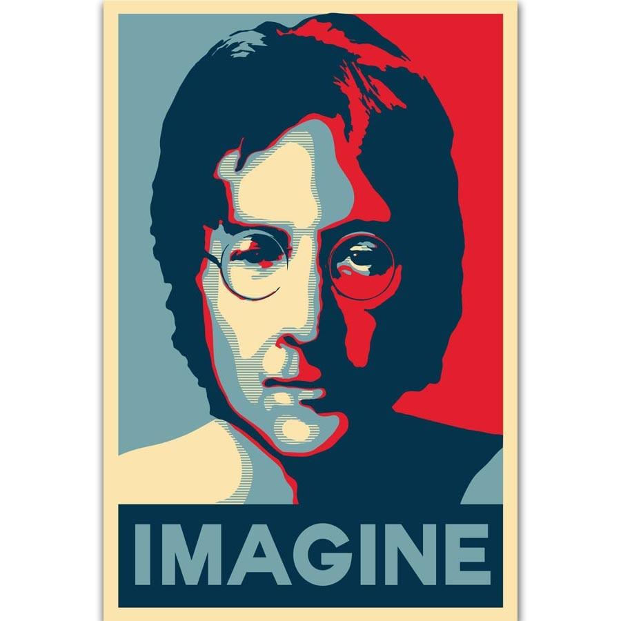 John lennon  Poster Print  on Art Silk Light Canvas